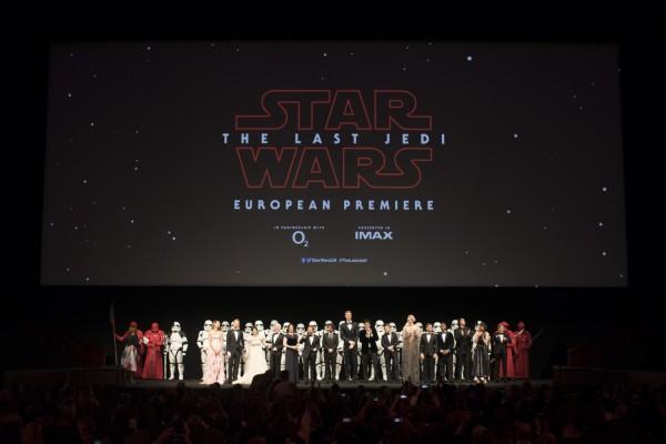 """Королевская премьера фильма """"Звёздные Войны: Последние джедаи» в Лондоне"""